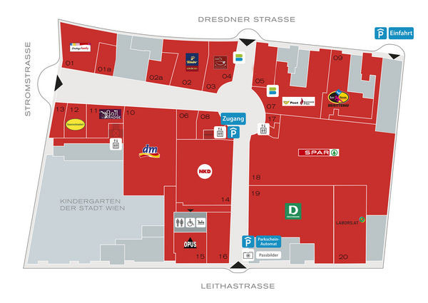 Center Plan Brigitta Passage